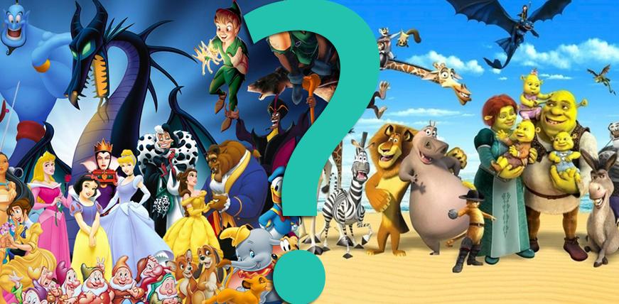"""10 trudnych pytań z serii """"Co byś wolał?"""" dla fanów Disneya i Dreamworksa."""