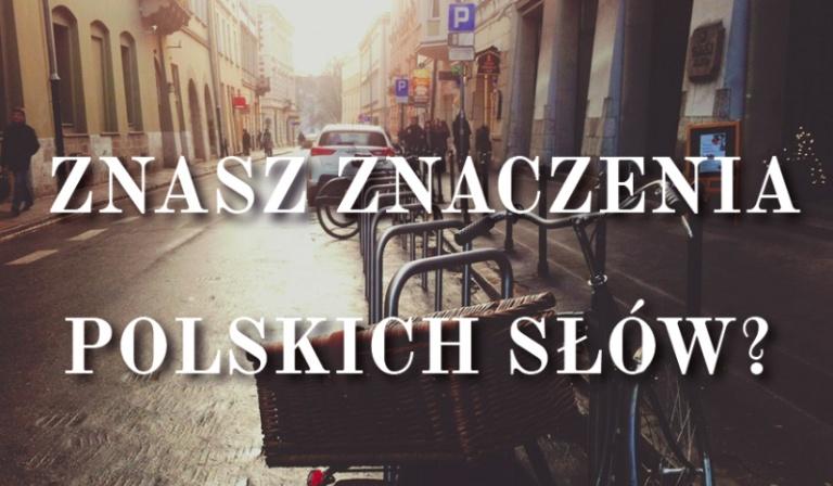 Czy znasz znaczenia polskich słów?