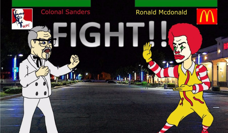 a comparison of kfc and mcdonald's