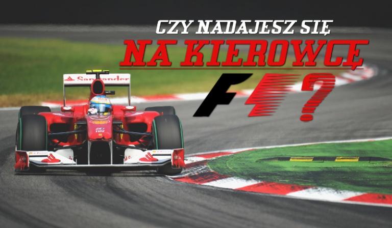 Czy nadajesz się na kierowcę F1?