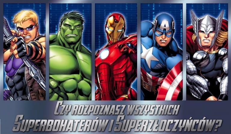 Czy rozpoznasz wszystkich Superbohaterów i Superzłoczyńców? #1