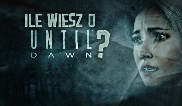 """Co wiesz o grze """"Until Dawn""""?"""