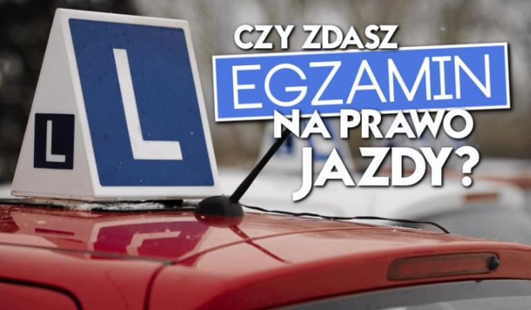 Czy zdałbyś egzamin na prawo jazdy?