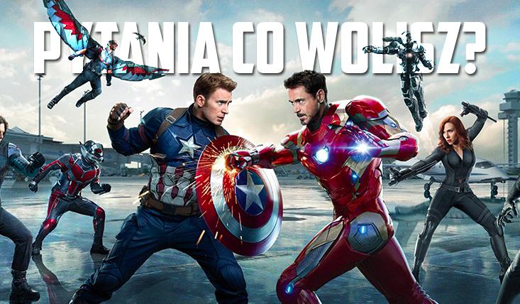 "12 pytań z serii ,,Co wolisz?"" z kategorii Captain America: Civil War!"