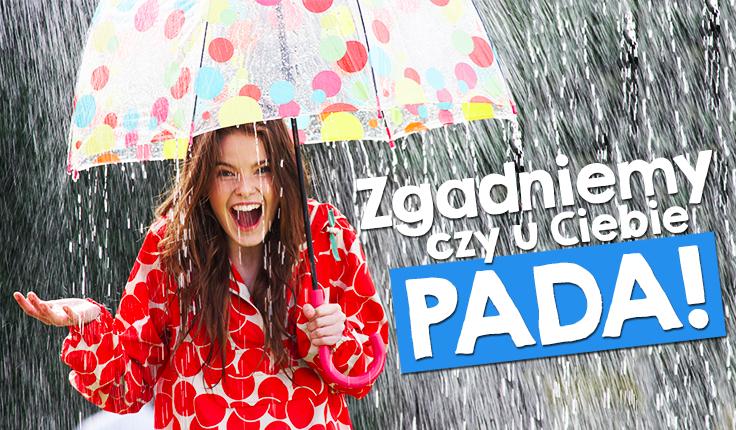 Zgadniemy, czy aktualnie pada u Ciebie deszcz?