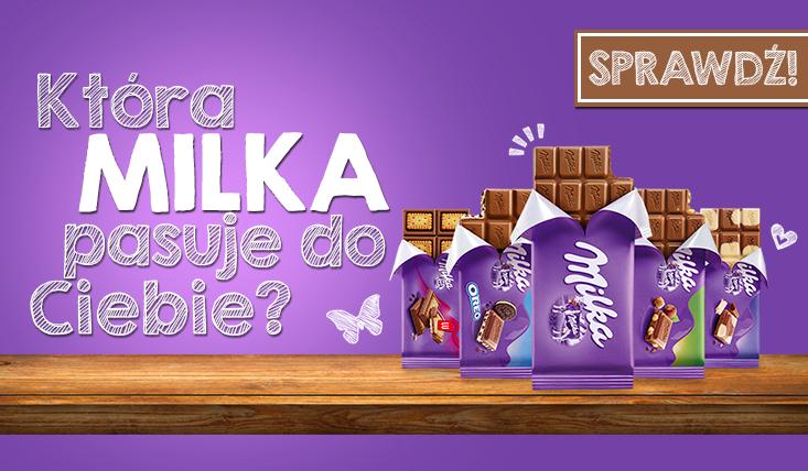 """Jaka czekolada """"Milka"""" do Ciebie pasuje?"""