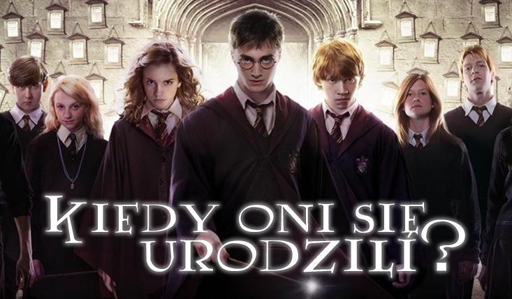 Bohaterowie Harry'ego Pottera - kiedy się urodzili? #1