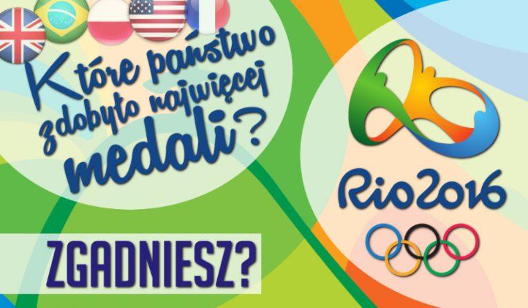 Czy odgadniesz, które państwo zdobyło najwięcej medali na Igrzyskach Olimpijskich w Rio?