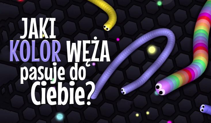 """Jaki kolor węża z gry """"Slither.io"""" do Ciebie pasuje?"""