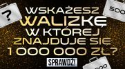 Czy uda Ci się wybrać walizkę, w której jest 1 000 000 złotych?