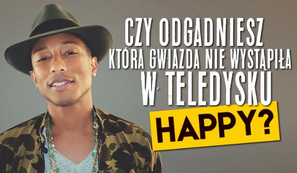 """Czy uda Ci się zgadnąć, która gwiazda nie wystąpiła w teledysku Pharrella Williamsa """"Happy""""?"""