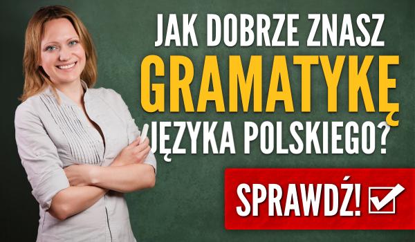 Jak dobrze znasz gramatykę języka polskiego?