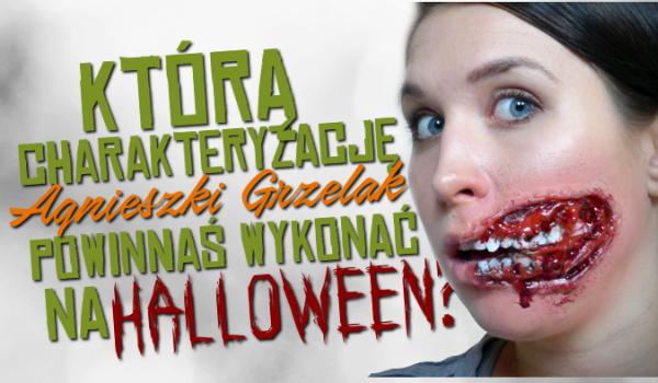 Którą charakteryzację Agnieszki Grzelak powinnaś wykonać na Halloween?