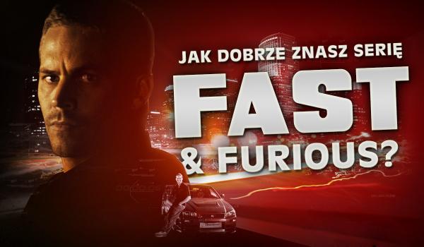 """Jak dobrze znasz serię filmów """"Fast & Furious""""?"""