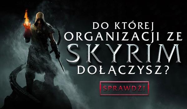 Do jakiej organizacji w Skyrim powinieneś dołączyć?