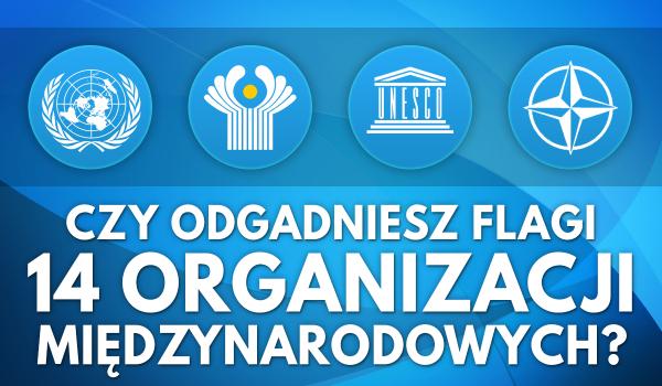 Czy odgadniesz flagi 14 organizacji międzynarodowych?