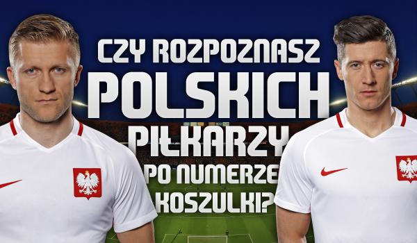 Czy rozpoznasz polskich piłkarzy po ich numerach na koszulkach?