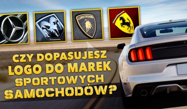 Czy dopasujesz logo do marek sportowych samochodów?