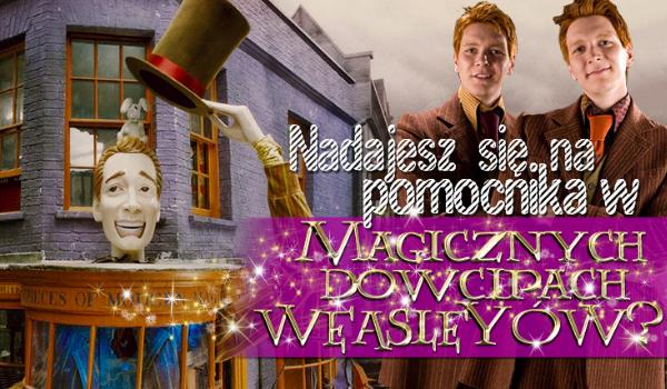 """Czy nadajesz się na asystenta w """"Magicznych Dowcipach Weasleyów""""?"""