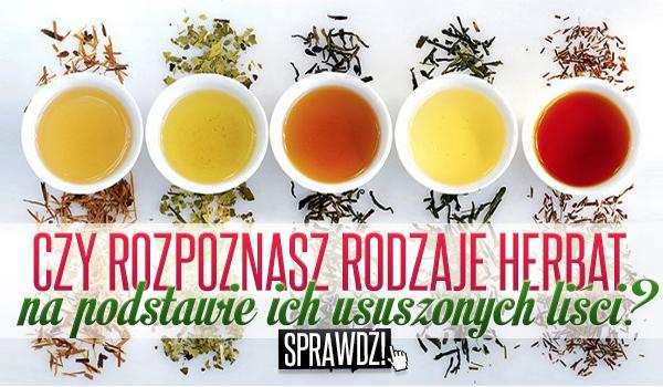 Czy rozpoznasz rodzaje herbat na podstawie ich ususzonych liści?