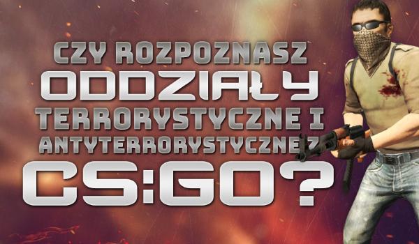 Czy rozpoznasz oddziały antyterrorystyczne i terrorystyczne z gry CS:GO?