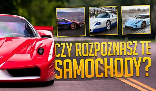 Czy rozpoznasz te samochody?