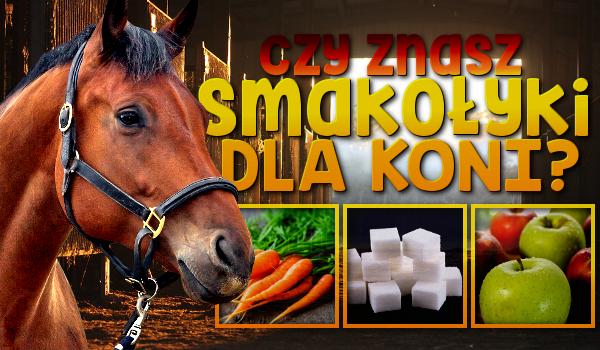 Czy znasz przekąski oraz smakołyki dla koni?