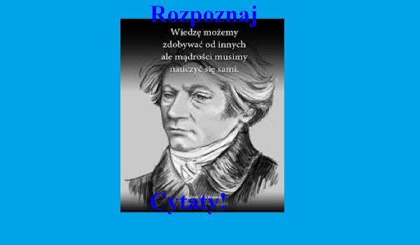 Rozpoznaj Cytaty Polskich Pisarzy Samequizy