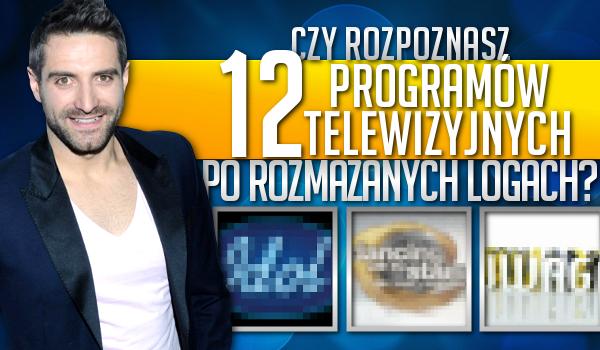 Czy rozpoznasz 12 programów telewizyjnych po rozmazanych logach?