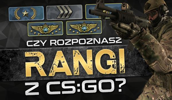 Czy rozpoznasz rangi z gry CS:GO?