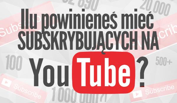 Na podstawie kilku pytań powiemy Ci, ilu powinieneś mieć subskrybujących na YouTube!