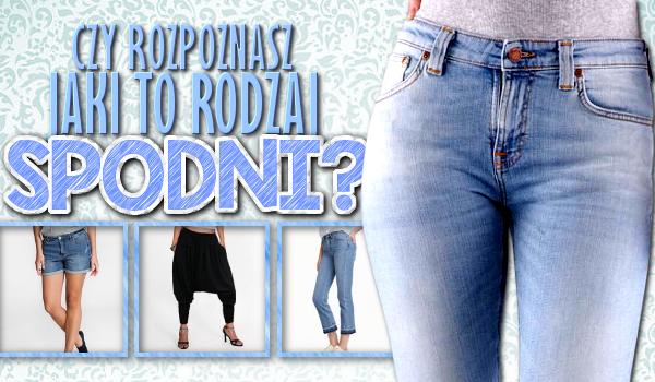 Czy rozpoznasz jaki to rodzaj spodni?