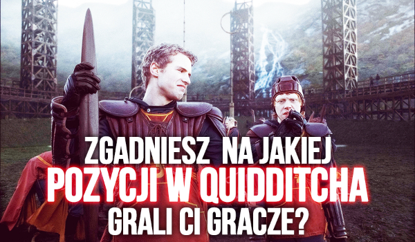 Zgadniesz, na jakiej pozycji w quidditchu grali Ci gracze?