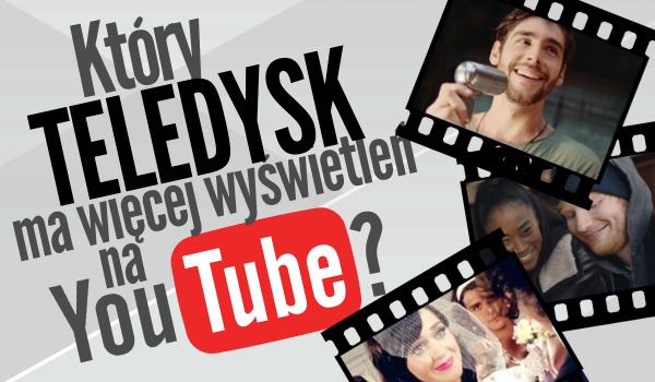 Który teledysk ma więcej wyświetleń na YouTube?
