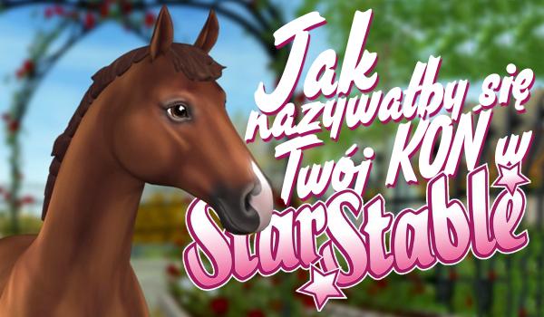 Jak nazywałby się Twój koń w Star Stable Online?