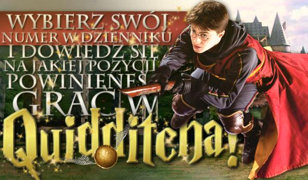 Wybierz swój numer w dzienniku i dowiedz się, na jakiej pozycji powinieneś grać w Quidditcha!