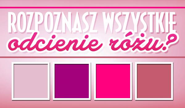 Czy uda Ci się rozpoznać odcienie różowego?