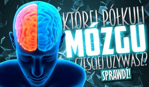Której półkuli mózgu częściej używasz?