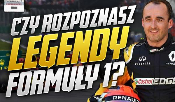 Czy rozpoznasz legendy Formuły 1?