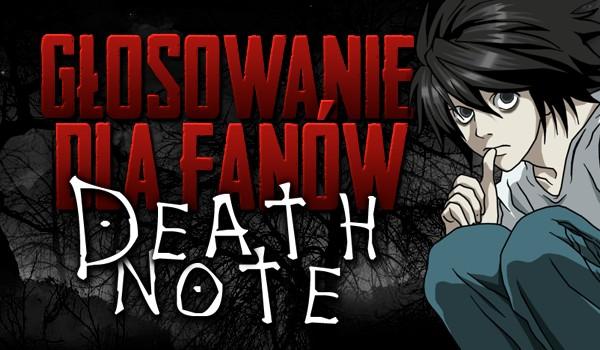 """Głosowanie dla fanów """"Death Note""""!"""