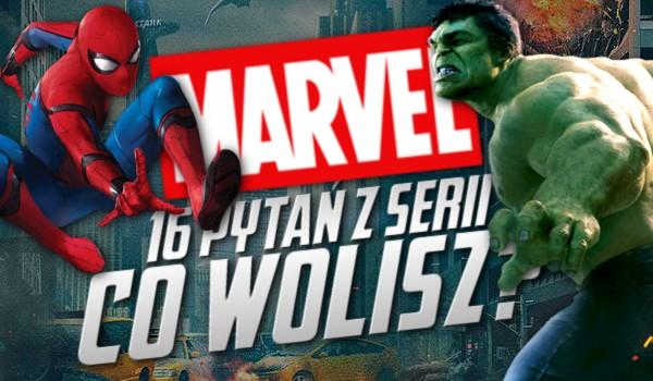 """16 pytań z serii """"Co wolisz?"""" – Marvel!"""