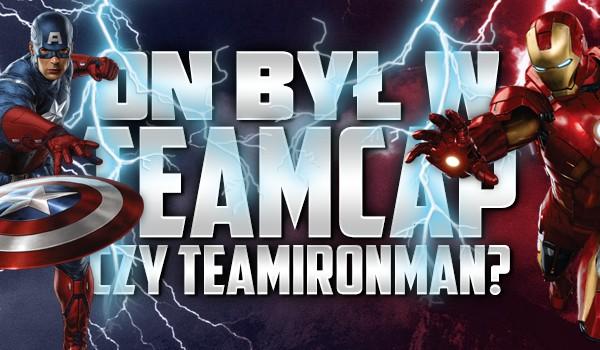 On był w TeamCap czy TeamIronMan?