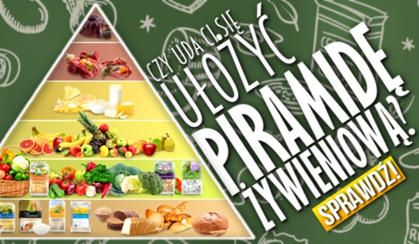 Czy uda Ci się ułożyć piramidę żywieniową?
