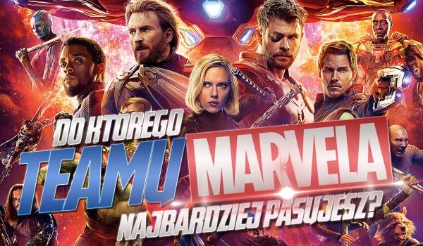 Do którego teamu Marvela pasujesz?