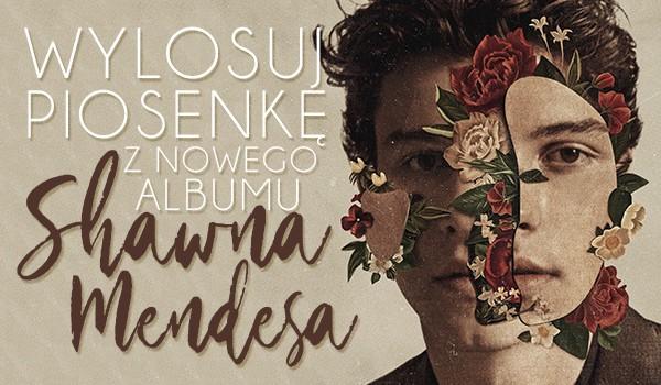 Wylosuj piosenkę z nowego albumu Shawna Mendesa!
