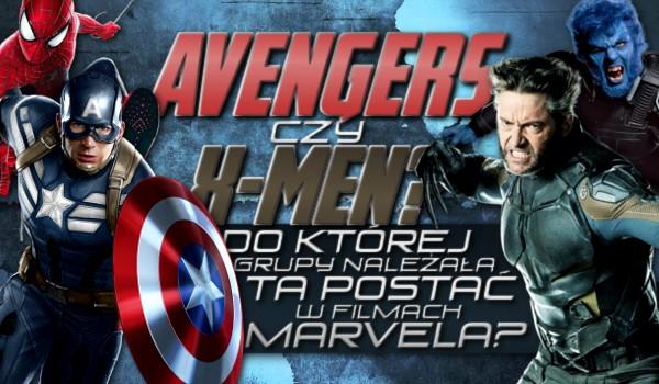 Avengers czy X-Men? Do której grupy należała ta postać w filmach Marvela?