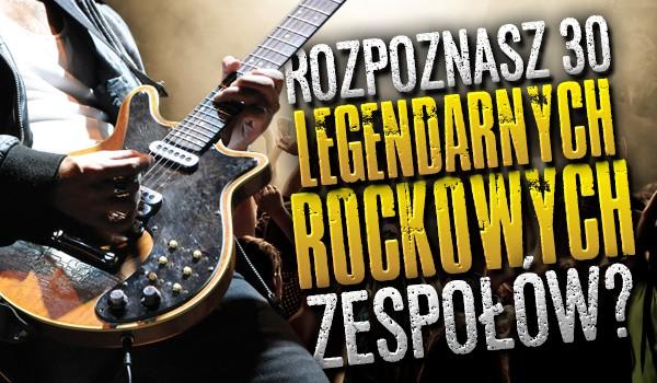 Rozpoznasz 30 legendarnych rockowych zespołów?