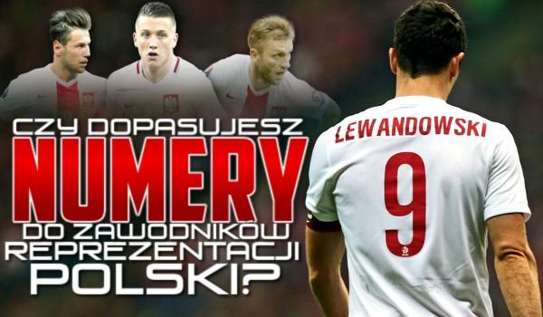 Czy dopasujesz numery do piłkarzy reprezentacji Polski?