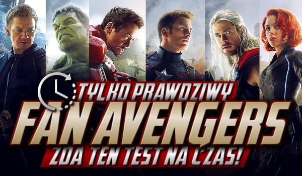 """Tylko prawdziwy fan """"Avengers"""" zda ten test na czas!"""