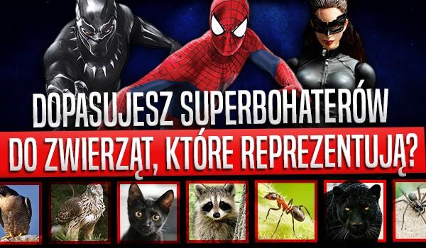 Dopasujesz superbohaterów do zwierząt, które reprezentują?
